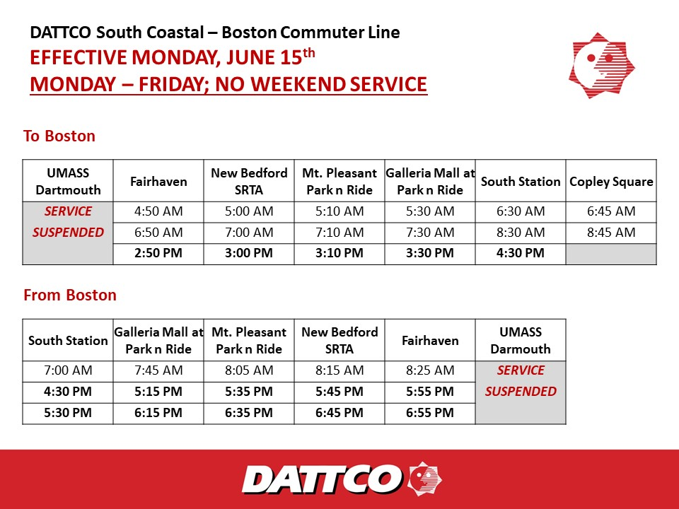 Boston Schedule Effective 6.15.20